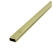 0.5cm X 1cm X 30cm X .014 Brass Rectangular Tube