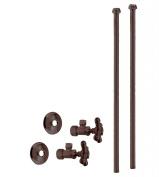 Westbrass D105KBNX-12 Faucet Kit - 1.6cm . OD x 1cm . OD x 50cm . Bullnose - Oil Rubbed Bronze