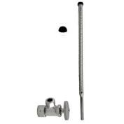 Westbrass D105K15-05 Supply Kit - 1.6cm . OD x 1cm . OD x 38cm . Corrugated - Polished Nickel