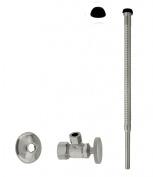 Westbrass D105K12-07 Supply Kit - 1.6cm . OD x 1cm . OD x 30cm . Corrugated - Satin Nickel