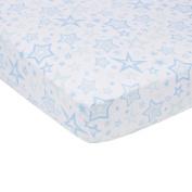 Miracle Blanket MiracleWare Muslin Crib Sheet, Blue Stars