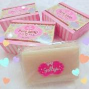 7 Bar Jellys Pure Soap Bar White Aura Within 3 Minutes Skin Body Whitening 100g