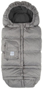 7 A.M. Enfant Blanket 212 Evolution Footmuff-Heather Grey Fleece Lining