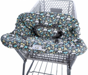 Heather and Heath Comfort Plus 2-1 Premium Grocery Shopping Cart Cover and High Chair Cover, Universal Elasticated Fit Any Size Cart Design, Ultra Plush, 100% Cotton Upper, Full Seat Harness