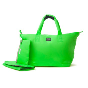 7 A.M. ENFANT Voyage Nappy Bag, Neon Green, Large