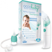 #1 Best Baby Battery Operated Electric Nasal Aspirator and a Bonus Snot Sucker Mucus Extractor for Infants and Toddlers - Limited Edition Set - Includes Batteries - 100% Clean Nose Guarantee