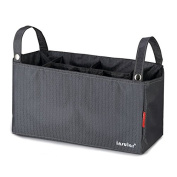 Baby Stroller Organisers Nappy Stroage with 7 Pockets,Grey