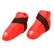 Lion Martial Arts Medium Red Vinyl Kicks Pair