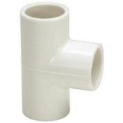 PVC Sch 40 Slip Tee 2.5cm - 0.6cm X 2.5cm - 0.6cm X 1.9cm Mueller B and K 401-167 012871621222