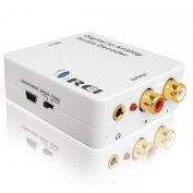 Orei DA34 Digital to Analogue Audio Decoder SPDIF/Coaxial 5.1-Channel Input to RCA L/R/3.5mm Headphone Output