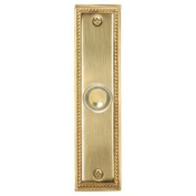 Heath Zenith 887 Wired Lighted Push Button, Polished Brass
