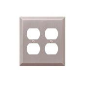163DDBN 2 Duplex Wall Plate, Brushed Nickel