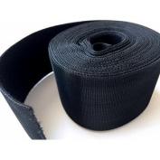 Black Nylon hook and loop Cable Tie Roll, Hook & Loop 5.1cm X 6.1m