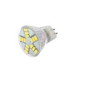AC DC 12 Volt 6W Cool White 15x 5630 Cluster LED Light Bulb MR11 GU4 BI Pin Lamp 20W MR11 Halogen