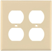 5150V Ivory Standard Nylon 2-Gang Duplex Outlet Receptacle Wall Plate