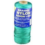 T.W . Evans Cordage 12-506 Number-1 Braided Nylon Mason Line, 300m, Green