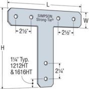 Simpson Strong Tie 1212HT 1 1 1 7-Gauge 30cm by 30cm T Strap