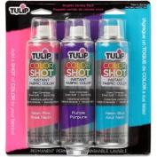 Tulip Colour Shot Instant Fabric Colour Spray 3/Pkg-Bright