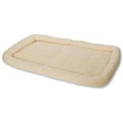 Little Giant Pet Lodge Fleece Pet Bed, 100cm Extra-Large Size, Cream