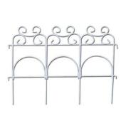 Panacea 89306 Decorative Folding Fence, White