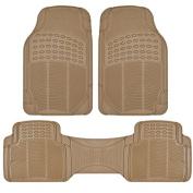 MotorTrend� Odourless Premium Rubber Car Floor Mat Set for maximum weather protection