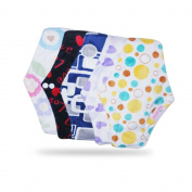 Blossom Cloth Menstrual Pads; Premium Bamboo Sanitary Napkins X5 with Charcoal Absorbecy Layer. Best Period Panties in the Market.
