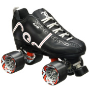 Labeda Voodoo U3 Quad Customised Black Roller Speed Skates with Black Cayman Wheels