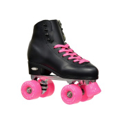 Epic Classic Black High-Top Quad Roller Skates