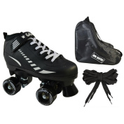 Epic 'Black Galaxy Elite' Quad Roller Skate 3-piece Bundle