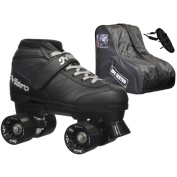 Epic Super Nitro Black Quad Speed Roller Skates Package