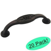 "Cosmas 9133-96ORB Oil Rubbed Bronze Cabinet Hardware Handle Pull - 3-3/4"" (96mm) Hole Centres - 20 PACK"