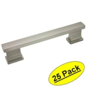 Cosmas 702-4SN Satin Nickel Contemporary Cabinet Hardware Handle Pull - 10cm Hole Centres - 25 PACK