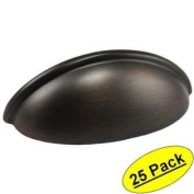 Cosmas 783ORB Oil Rubbed Bronze Cabinet Hardware Bin Cup Drawer Handle Pull - 7.6cm Hole Centres - 25 PACK