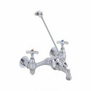 Delta 28T9-CP Two Handle 20cm Wall-Mount Service Sink Faucet Chrome