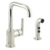 Purist Secondary Swing Spout with Spray Finish