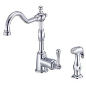 Danze D401557 Opulence Single Handle Kitchen Faucet with Matching Side Spray, Chrome