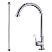 KES K8002A Cold Tap Single Lever Kitchen Pantry Bar Faucet with 60cm Supply Hose, Polished Chrome