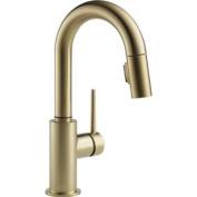 Delta 9959-CZ-DST Single Handle Pull-Down Bar/Prep Faucet, Champagne Bronze