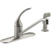 KOHLER K-15172-FL-BN Coralais Single Control Kitchen Sink Faucet, Vibrant Brushed Nickel