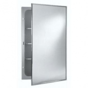 Jensen 478FS Basic Styleline Recessed Steel Medicine Cabinet, White