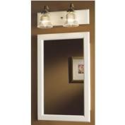 NuTone 8120 Framed Prairie Single-Door Recessed Medicine Cabinet, White