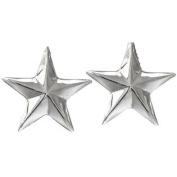 Western Cufflinks Mens Smooth Sterling Star Silver 028-110