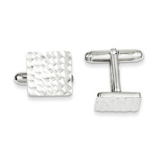 MEN'S 925 STERLING SILVER SQUARE SHAPE CUFF LINKS
