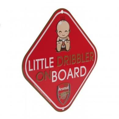 Car Accessories - Official Arsenal FC Little Dribbler Window Sign - Novelty Football Gift Ideas