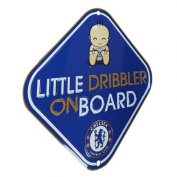 Car Accessories - Official Chelsea FC Little Dribbler Window Sign - Novelty Football Gift Ideas