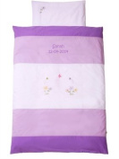 Baby SUTTEN Name Baby Bedding Set, Summer Lilac 80 x 80 cm