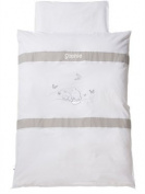 Baby SUTTEN with Name Dreambear White Bed Linen 80 x 80 cm
