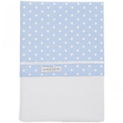 Little Dutch 0344 Cot Sheet Light Blue with White Stars