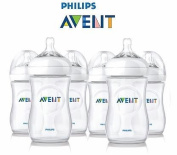 6 x Philips AVENT 260ml 9oz Baby Feeding Bottle Natural Range 1month+ Anti Colic - Reduces Colic BPA Free