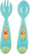 Disney Winnie the pooh 2pcs Cutlery Set Newborn baby Toddler Spoon Fork Food